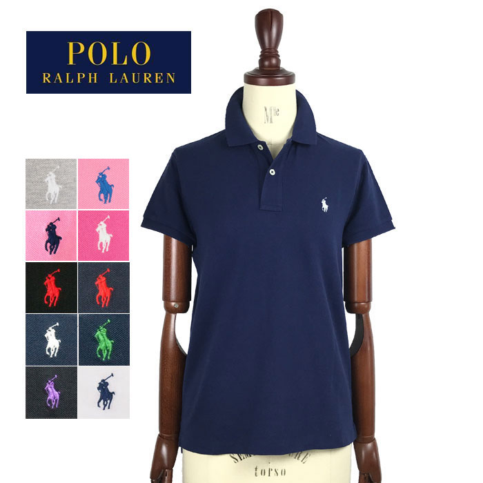 NAVIE  SALE Ralph Lauren women pony one point embroidery classic fit Polo  Ralph Lauren Classic Fit Polo Shirt  83b87e575d