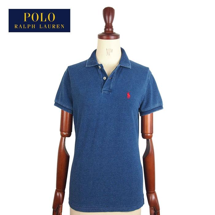 ラルフローレン INDIGO インディゴ SLIMFIT ポロシャツ ポロ レディース Lauren 2020 新作 Polo Shirts スリムフィット ブルーPOLO Ralph 送料無料新品 ポニーワンポイント