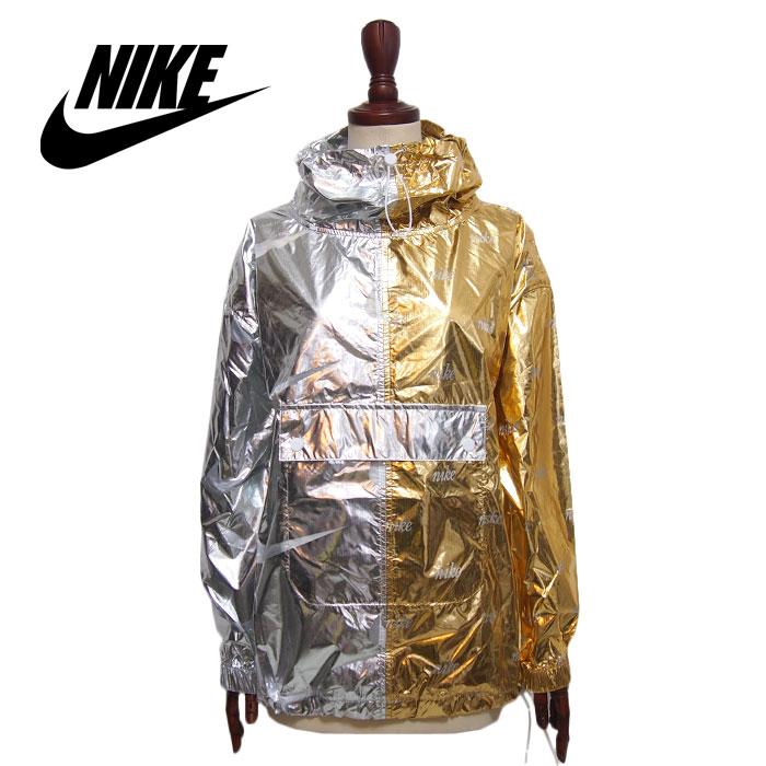 3dc49e7dd075 NAVIE  Nike women sportswear metallic pullover jacket   gold ...