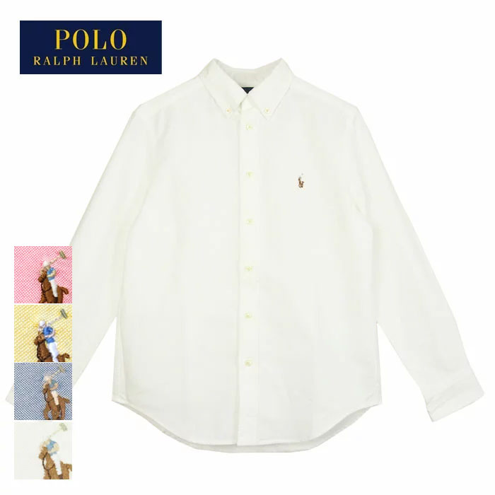 9f3f67872 Ralph Lauren kids Boys pony one point Oxford button-down shirt / white /  blue ...