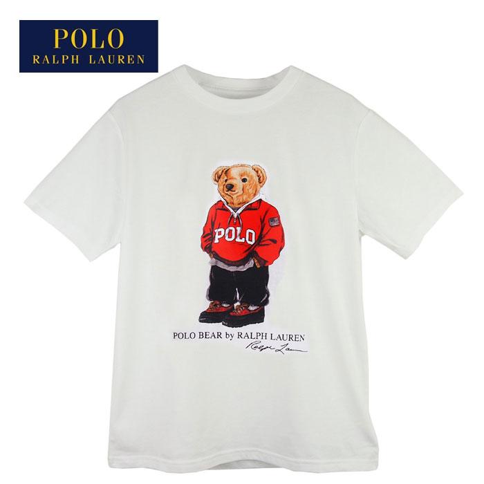 37f622012 NAVIE  Ralph Lauren polo Boys polo base-up crew neck T-shirt   white POLO Ralph  Lauren BOY S T-shirt