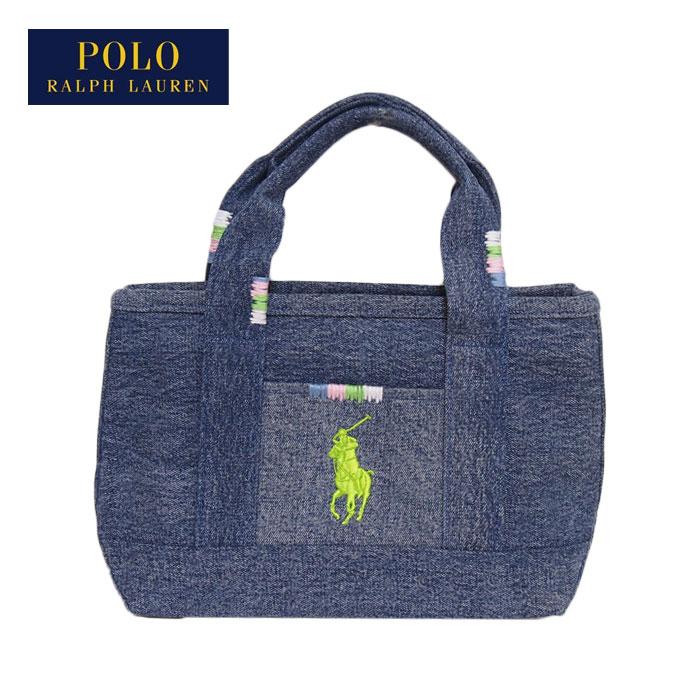a42876f3bfcf NAVIE  Ralph Lauren polo denim pony embroidery mini-tote bag ...