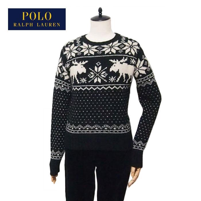 0b4cd3229 Ralph Lauren Polo women s Nordic pattern Merino Wool Alpaca knit sweater    black POLO by Ralph ...