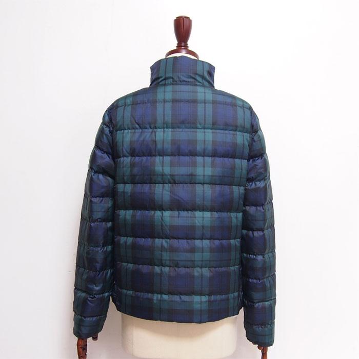 Black Lauren Polo Green Reversible Jacket Ralph Pattern Lady's Down Checked Coat lFJK1c