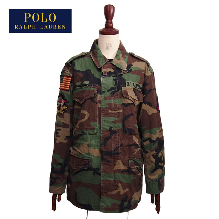Navie Camouflage Military Jacket Green Duck Polo Ralph Lauren