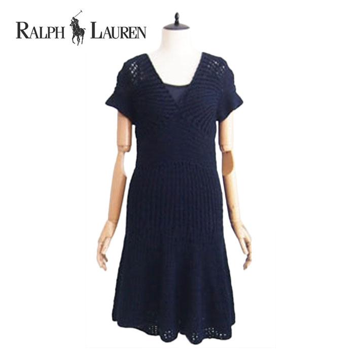 41263d6960db NAVIE: Ralph Lauren blue label hand knit cotton dress | Rakuten ...