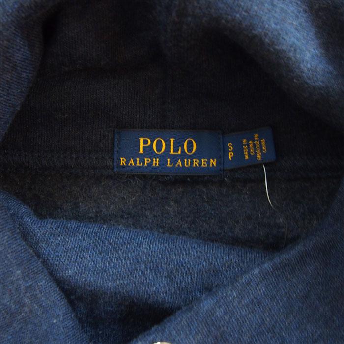 ed4c5eec ... Ralph Lauren polo Lady's pony one point turtleneck sweat shirt dress  parka / navy POLO Ralph ...