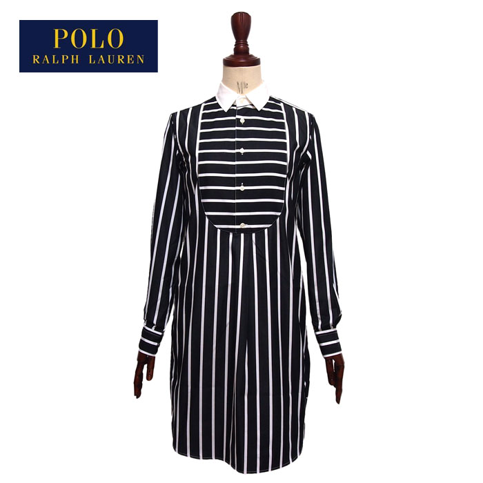 0a06ab7e50 Ralph Lauren Polo Womens striped t-shirt dress and black POLO by Ralph  Lauren Dress