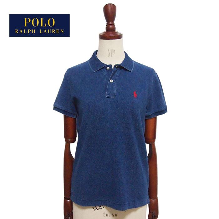 ラルフローレン INDIGO インディゴ Classic Fit ポロシャツ クラシックフィット レディース 正規認証品!新規格 ブルー ポロ 美品 ポニーワンポイント