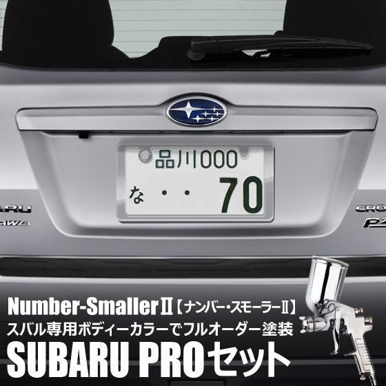 自動車塗装の職人さんがライセンスフレームをスバルボディカラーでオーダーペイント!【ナンバー・スモーラーII SUBARU PROセット】