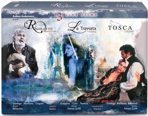 3つのライヴ・フィルム 《トスカ》《椿姫》《リゴレット》[DVD 4枚組]