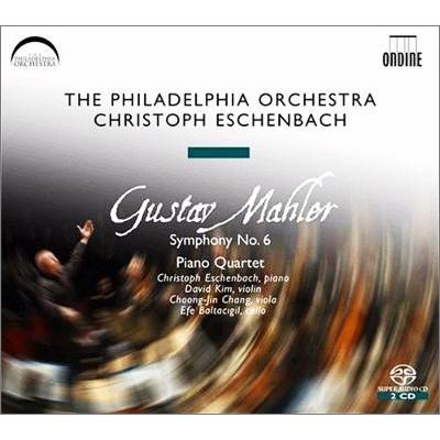Ondine マーラー:交響曲第6番 マーケット 悲劇的 ピアノ四重奏曲 エッシェンバッハ フィラデルフィア管 SACD2枚組 超目玉 イ短調
