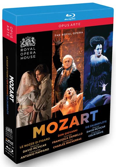 モーツァルト・オペラBOXセット - 歌劇《ドン・ジョヴァンニ》/歌劇《魔笛》/歌劇《フィガロの結婚》[BD-5discs, 日本語字幕なし]