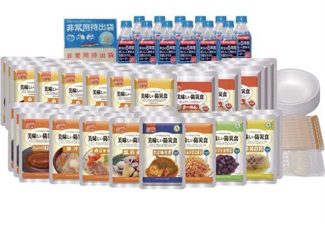 アルファフーズUAA食品美味しい防災食R美味しい防災食ファミリーセット(保存水付き)(代引不可)