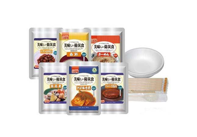 アルファフーズ UAA食品美味しい防災食R 美味しい防災食アルファセット(1人×1日分)保存水無(代引不可)