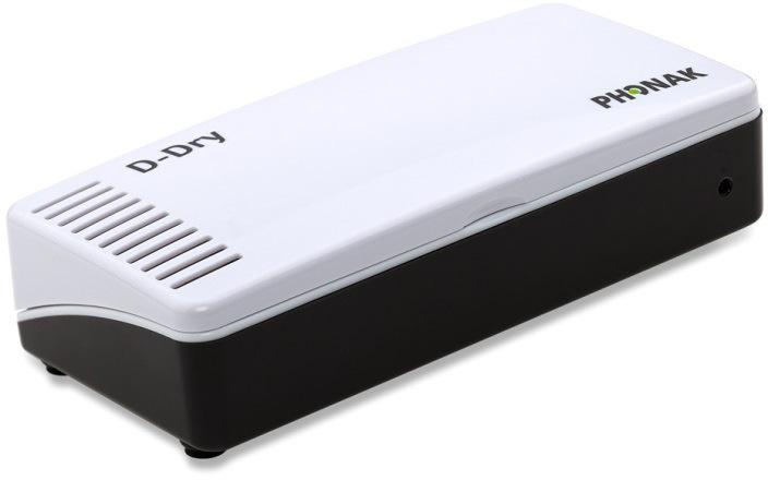 補聴器専用電気乾燥器PHONAK(フォナック)D-Dry(ディー ドライ)【送料無料!】乾燥剤(シリカゲル)取り換え不要紫外線除菌で湿気や雑菌を除去し人工内耳の故障も予防
