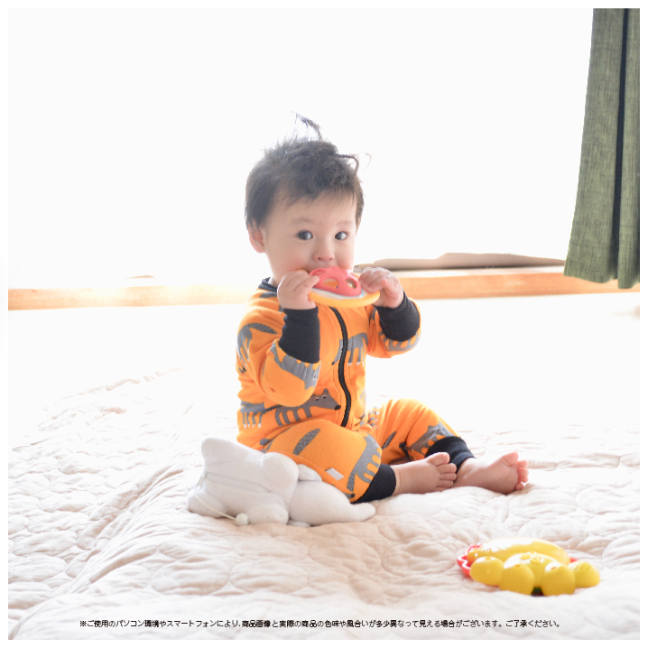 北欧輸入ロンパース(JNY)ウルフ/オーガニックコットン/ベビー服/0か月/1か月/2か月/3か月/0ヶ月/1ヶ月/2ヶ月/3ヶ月/男の子/女の子/1歳