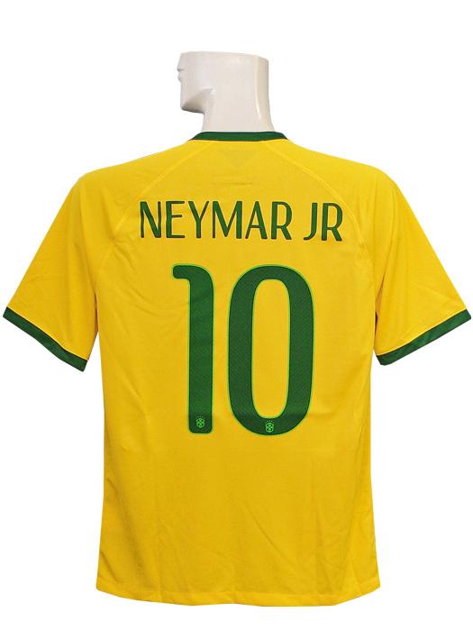 【送料無料】(ナイキ) NIKE/2014ブラジル代表/ホーム/半袖/ネイマール/ワールドカップバッジ付/フルマーキング仕様/575280-703