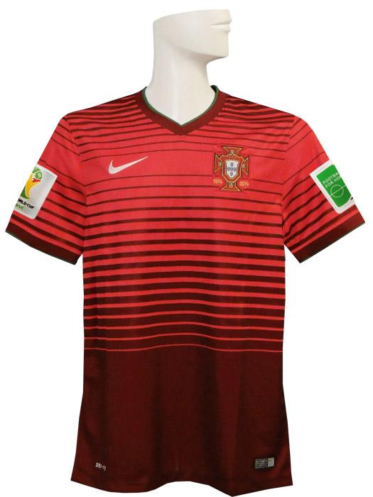 【送料無料】(ナイキ) NIKE/2014ポルトガル代表/ホーム/半袖/ワールドカップ/スリーブバッジ+FIFA FOOTBALL FOR HOPEバッジ付/577986-677