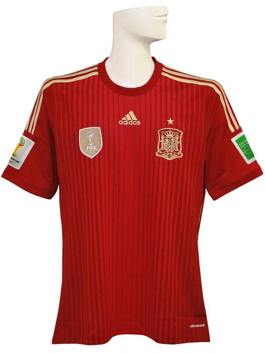 【送料無料】(アディダス) adidas/14/15スペイン代表/ホーム/半袖/ワールドカップバッジ付/フルマーキング仕様/AD712-G85279