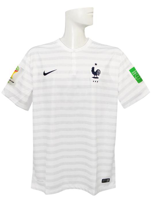 【送料無料】(ナイキ) NIKE/2014フランス代表/アウェイ/半袖/2014FIFAワールドカップ/スリーブバッジ+FIFA FOOTBALL FOR HOPEバッジ付/577927-105