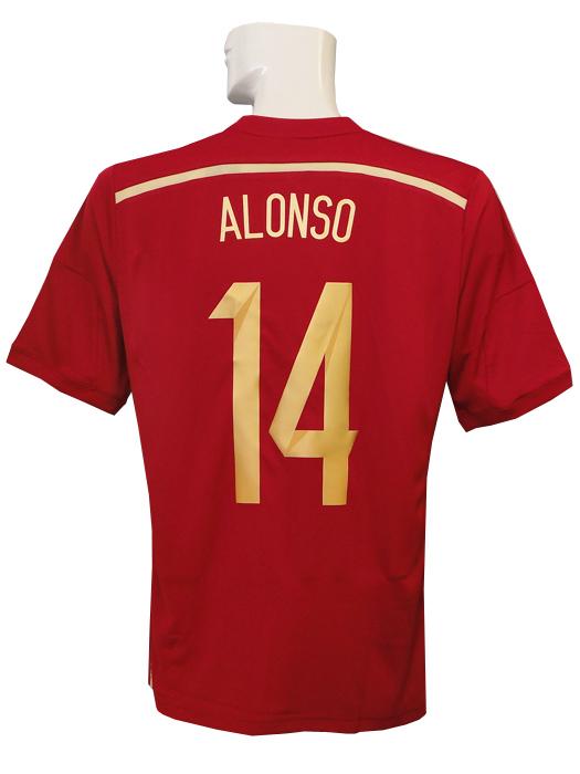 【送料無料】(アディダス) adidas/14/15スペイン代表/ホーム/半袖/シャビ・アロンソ/ワールドカップバッジ付/フルマーキング仕様/AD712-G85279