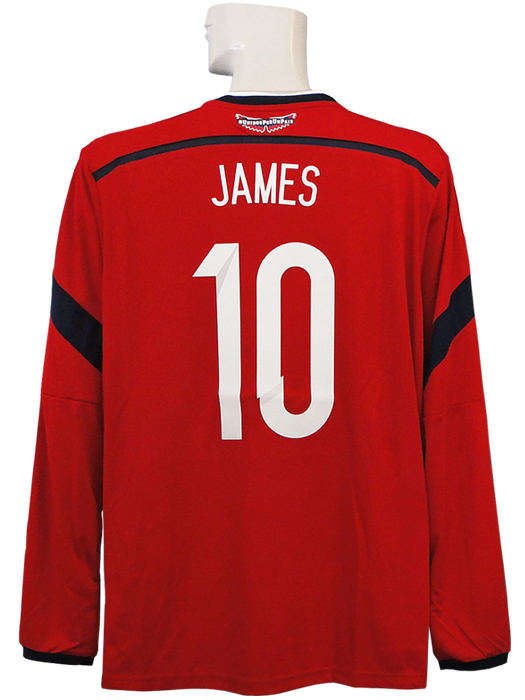 Limited stock * * * (adidas) adidas/14/15 Colombia representative / away / long sleeve / James Rodriguez / World Cup / sleeves badges + badge with a FIFA FOOTBALL FOR HOPE