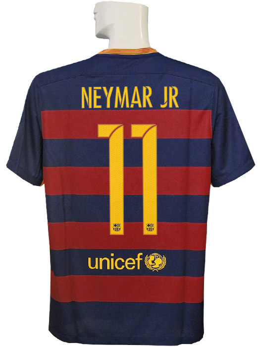 (Nike) / full marking /658794-422 with NIKE/15/16 Barcelona /CL/ home / short sleeves / Ney marl /2015FIFA club World Cup championship badge