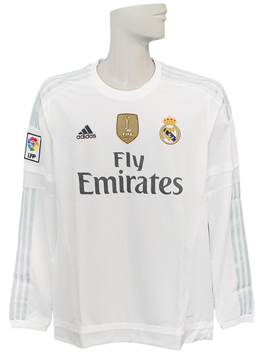 half off 46721 f98c3 *** /AK2495 with limited arrival *** (Adidas) adidas/15/16 Real Madrid /  home / long sleeves /2014FIFA club World Cup championship badge