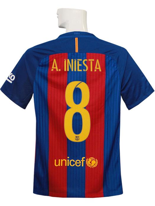b4812c41b (Nike) / Iniesta /777029-481 working under NIKE/16/17 Barcelona / home /  short sleeves / youth / sponsor