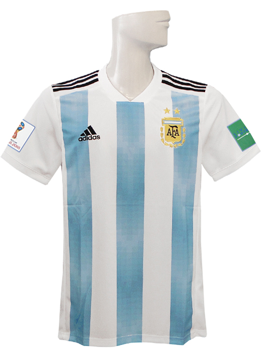 5dd1d0e00df (Adidas)  BQ9324 with representative from adidas 18 19 Argentina   home    short sleeves  2018 World Cup badge +LIVING FOOTBALL badge