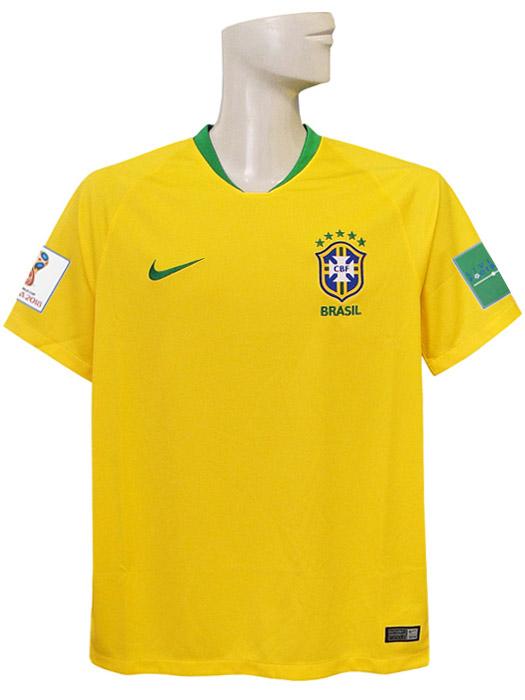 【送料無料】(ナイキ) NIKE/18/19ブラジル代表/ホーム/半袖/2018ワールドカップバッジ+LIVING FOOTBALLバッジ付/893856-749