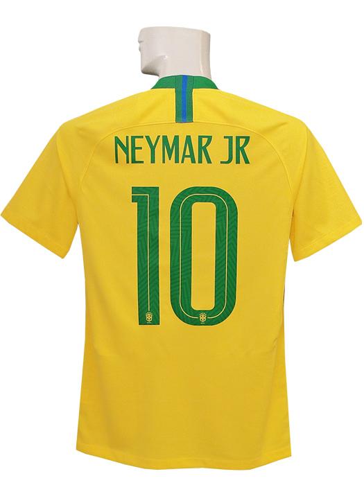 【送料無料】(ナイキ) NIKE/18/19ブラジル代表/ホーム/半袖/ネイマール/2018ワールドカップバッジ+LIVING FOOTBALLバッジ付/893856-749