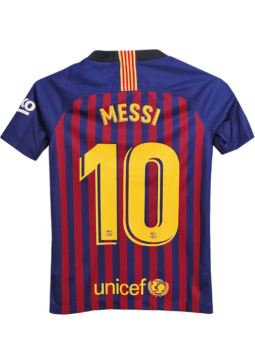 sports shoes 822ab ccbe3 (Nike) NIKE/18/19 Barcelona / home / short sleeves / Messi / youth  /894458-456