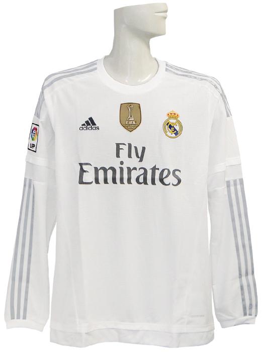 buy online 1e33a 7ac58 *** / Sergio Ramos /AK2495 with limited arrival *** (Adidas) adidas/15/16  Real Madrid / home / long sleeves /2014FIFA club World Cup championship ...