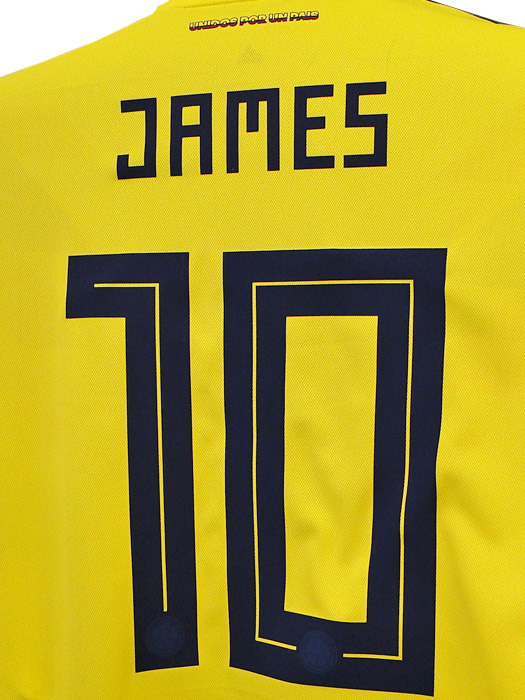 best website 03799 5f963 (Adidas) /CW1526 with representative from adidas/18/19 Colombia / home /  short sleeves / James Rodriguez /2018 World Cup badge +LIVING FOOTBALL badge