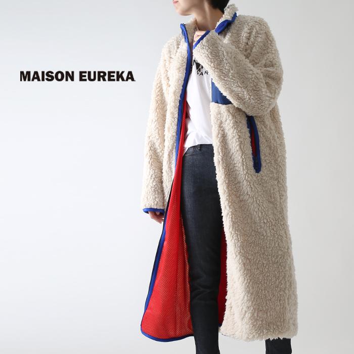 **【ネット限定AWセール50%OFF】MAISON EUREKA〔メゾンエウレカ〕060FLEECE LONG CARDIGAN/フリースジップアップロングカーディガン