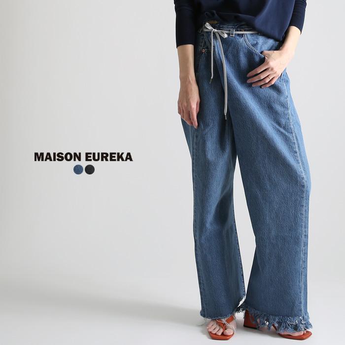 ** MAISON EUREKA [メゾンエウレカ] 017/VINTAGE-PANTS VINTAGE REWORK BIGGY PANTS/  wide remake vintage denim underwear