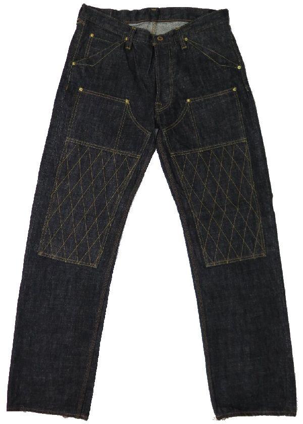 【トロフィークロージング】 ダブルニー ブラックデニムジーンズ TROPHY CLOTHING 1606BK 日本製【送料無料】●裾上げ加工無料●ジーンズ保証