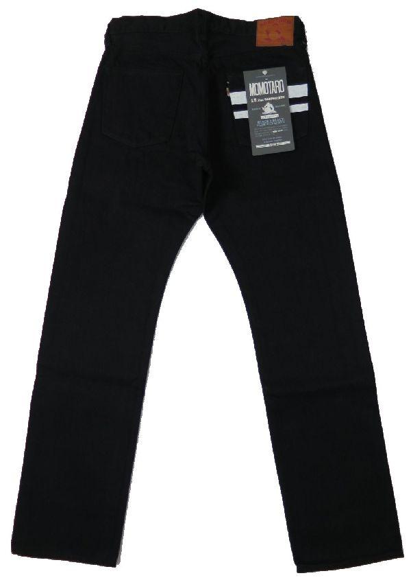 【桃太郎ジーンズ】 ブラックデニム ストレート/出陣 MOMOTARO JEANS B0205SP 日本製 【送料無料】●裾上げ加工無料●ジーンズ保証