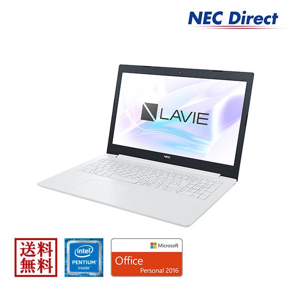 【エントリーでP10倍!4月16日01:59迄】★ポイント10倍(4/18 13:59 まで)★【送料無料:Web限定モデル】NECノートパソコンLAVIE Direct NS(Pentium搭載・カームホワイト)(Office Personal 2016・1年保証)(Windows 10 Home)