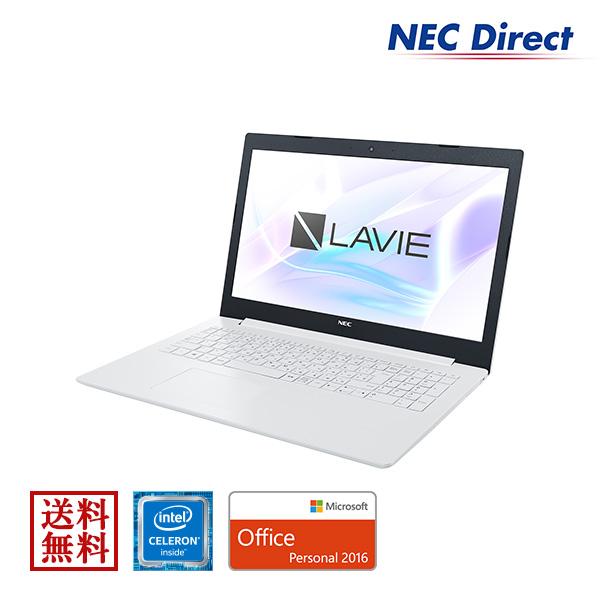 【エントリーでP10倍!4月16日01:59迄】●【送料無料:Web限定モデル】NECノートパソコンLAVIE Direct NS(Celeron搭載・カームホワイト)(Office Personal 2016・1年保証)(Windows 10 Home)