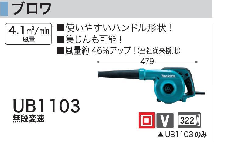 マキタ ブロワ UB1103【電動工具】