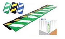 コーナークッション・コーナーガード【反射タイプ】クッション養生材 Lライン【黄/黒】【緑/白】【青/白】【10枚入】