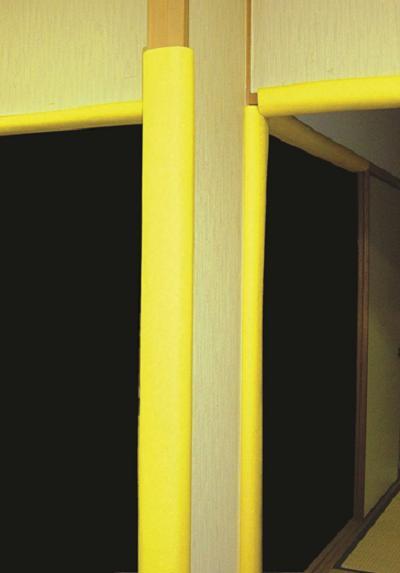 【条件付 送料無料】CK-1【50本入】クッションカバー(50mm~100mm程度まで)t10mm×長さ1.7m オレンジ色【耐衝撃性バツグンの養生カバーです】