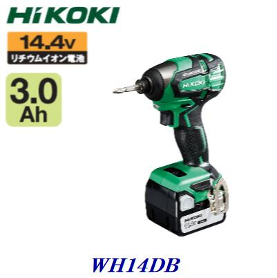 Hi KOKI WH14DB(2SC)コードレスインパクトドライバ【 Li-ion 14.4V  / 3.0Ah 】【 充電器 ・ バッテリ ・ ケース付き 】充電式インパクト【 電動工具・充電工具 】
