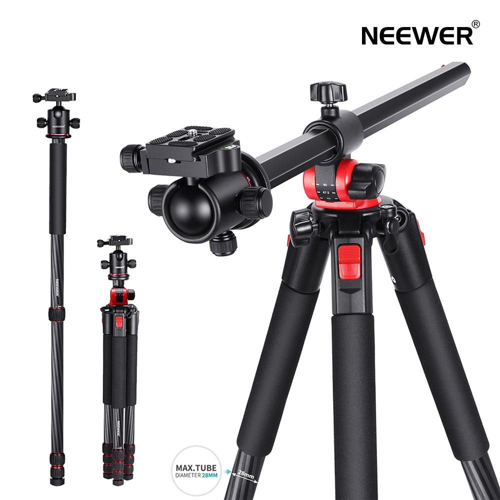 カーボン 三脚 一脚 まとめ買い特価 送料無料 一年保証 Neewer 2-in-1三脚 ついに再販開始 軽量三脚 ビデオ三脚 360度回転式雲台付き カーボンファイバー製 頑丈 184cmカメラ三脚一脚