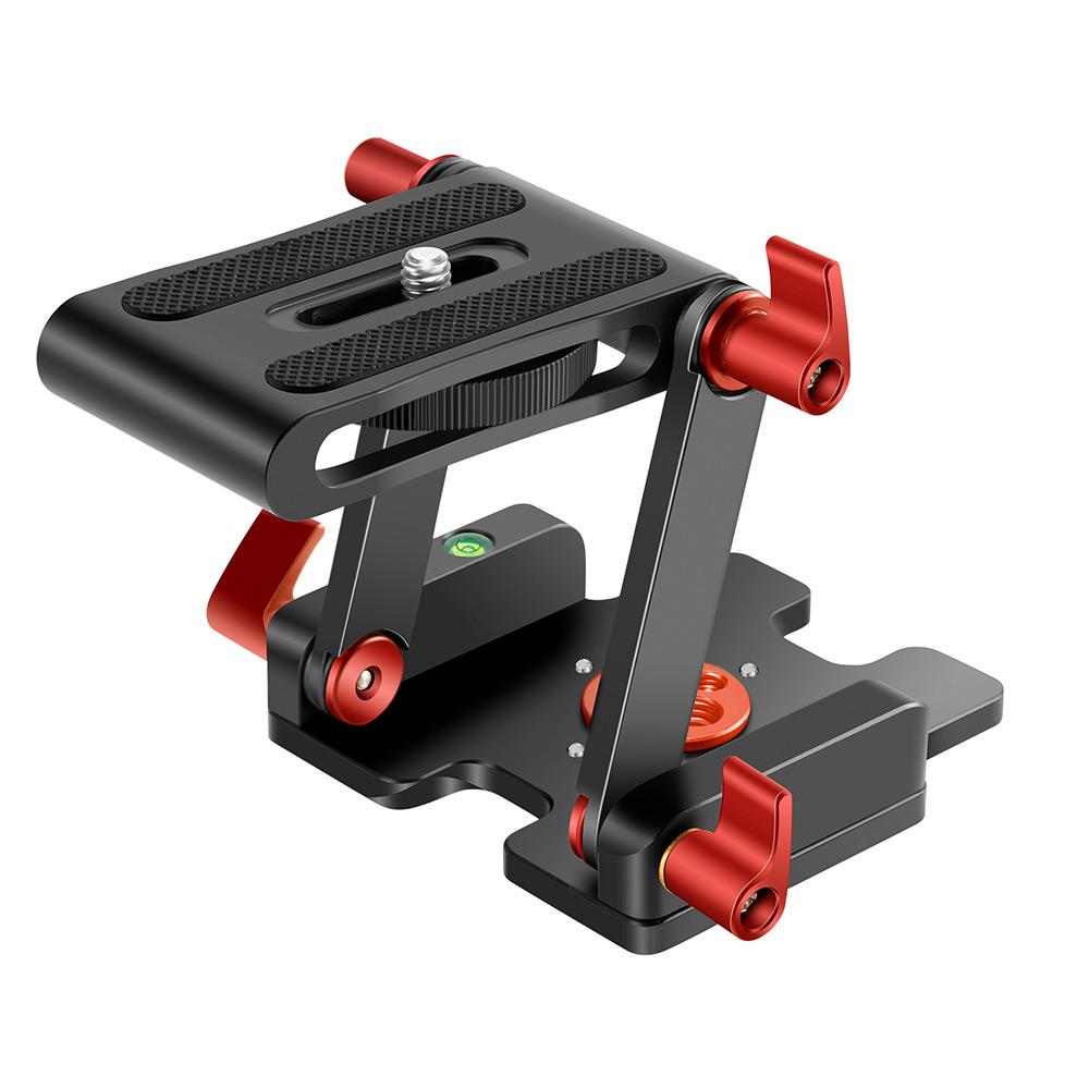 三脚雲台 一年保証 送料無料 Neewer 記念日 アップグレード版Z型フレックスチルトヘッド Zタイプ三脚ヘッド 4つの調整 最大荷重3kg 三脚 固定ノブ クイックリリースプレートとスピリットレベル付き スライダー対応 贈答 アルミニウム合金 DSLRカメラ用ビデオカメラ