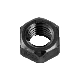 M27 正規品スーパーSALE×店内全品キャンペーン 鋼製六角ナットの一般品 黒色 鉄 六角ナット 4個入 三価黒クロメート 返品不可 1種