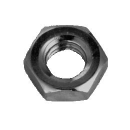 鉄 六角ナット(3種) M27 三価黒 【75個入】